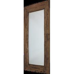 Spiegel Rustiek - 140x80 cm - blank - drijfhout teak