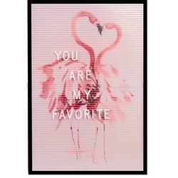 Dresz Letterbord Inclusief 292 Witte Letters, Nummers en Symbolen,  3 Trendy Posters en 2 Bevestigingshaken Leuke Woondecoratie Roze Thema, 31 x 46 cm