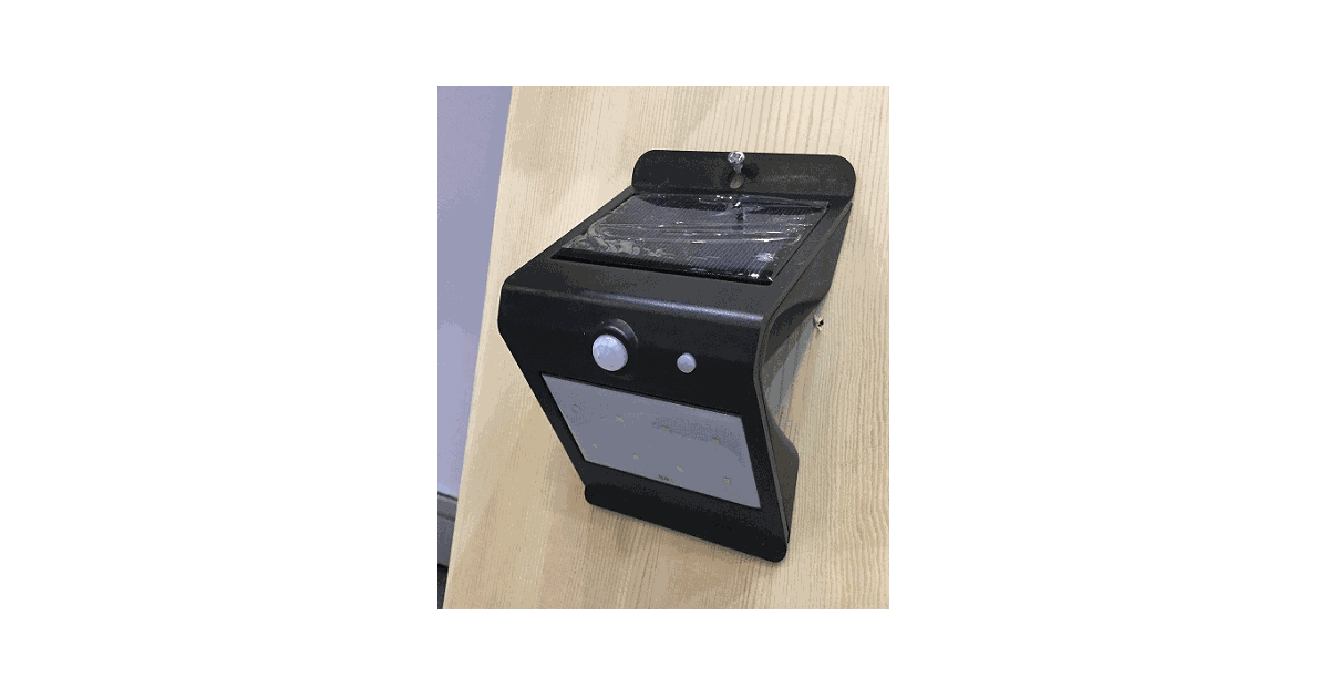 Wandlamp solar zwart met bewegingsensor 9,5x8x15,5 ww