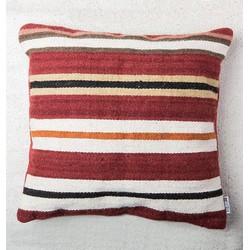 Cushion Blanket Stripe - Red