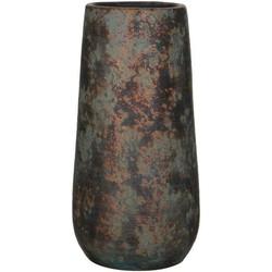 Mica Decorations clemente ronde vaas koper maat in cm: 55 x 21,5
