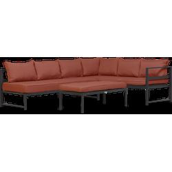 Lanterfant® Loungeset Stijn - Terracotta - Aluminium - 6 personen