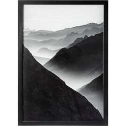 Schilderij Mountains zwart 50x70cm