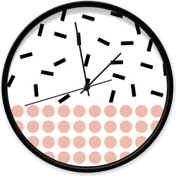 Klok dots & sprinkles - Zwart / zwart