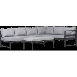 Lanterfant® Loungeset Stijn - Antraciet - Aluminium - 6 personen