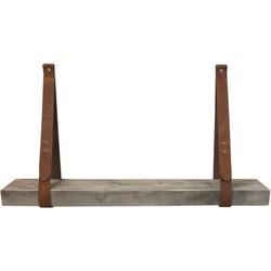 Leren plankdrager - Cognac - Set - Oude Look - Balk - 90cm