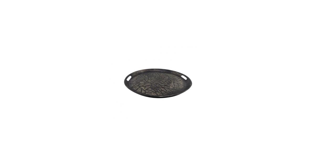 Unknown Round Tray 28x28x3 Silver Antique