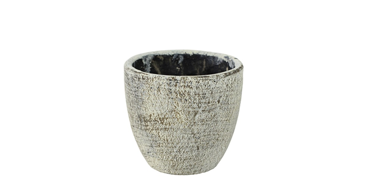 5 stuks Bloembak Pot Anne white earth D14 H13 TS