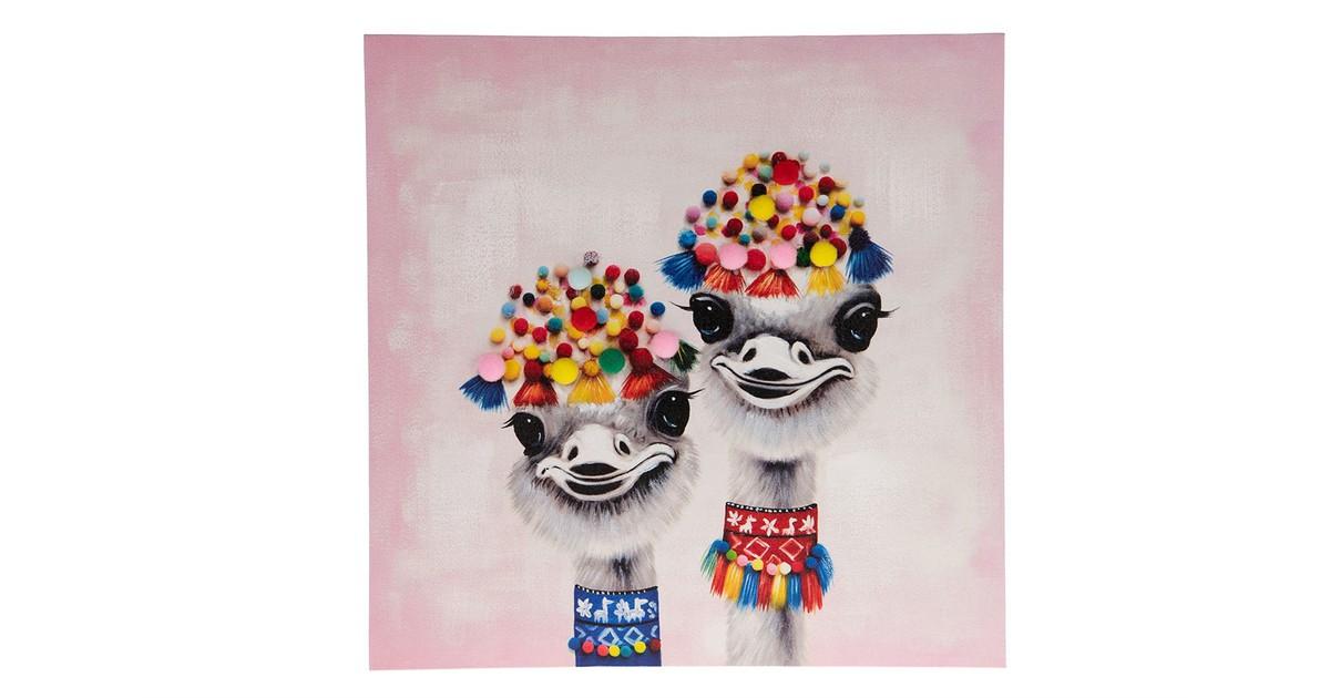 Cozy Ibiza - Canvas schilderij struisvogel 3D