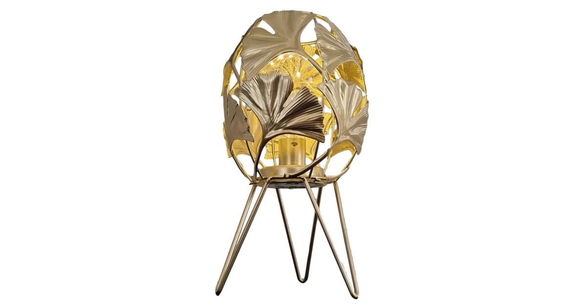 Inspiring Minds Gouden decoratie tafellamp led – Tafel lamp goud op pootjes 27 cm   GerichteKeuze online kopen