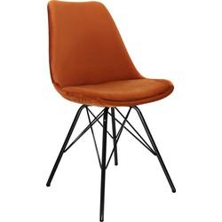 Kick Kuipstoel Velvet Oranje