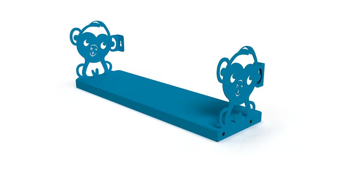 Gorillz Monkey Kids - Boekenplank Kinderkamer - Blauw