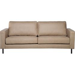 Driezitsbank leather-look beige SAVALEN
