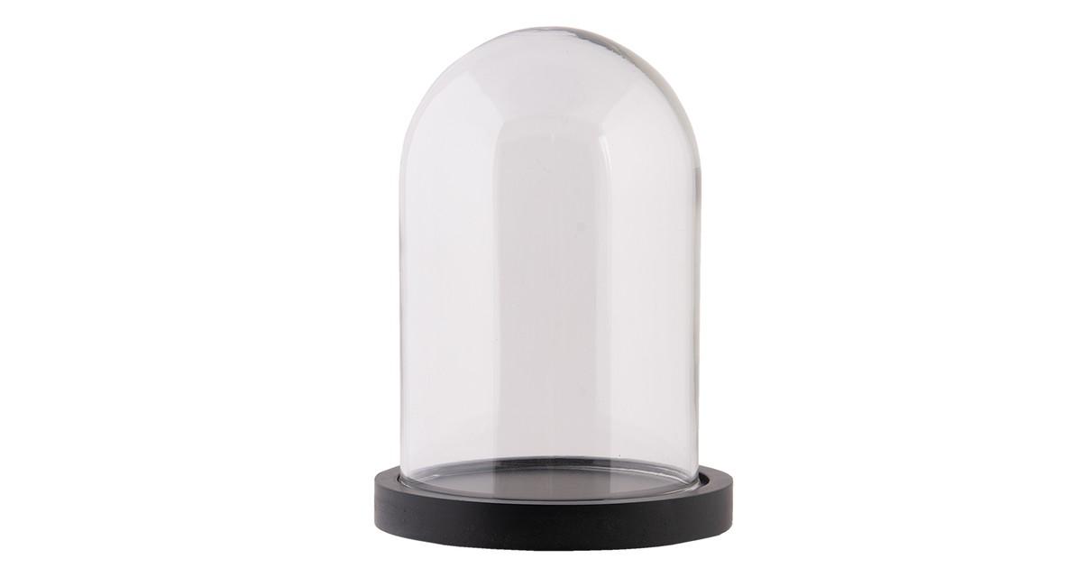 Clayre & Eef stolp 6GL2168Z Ø 10*15 cm transparant glas glazen stolp