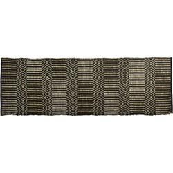 Madam Stoltz vloerkleed Seagrass zwart 200 x 70
