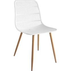 Tamy - Set van 4 stoelen - Wit