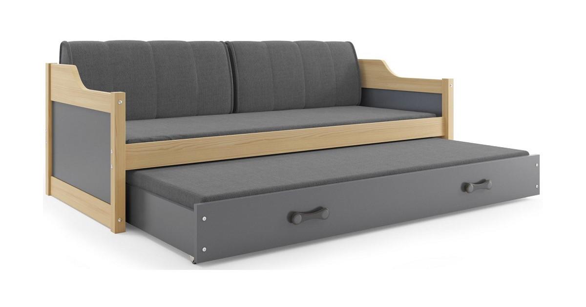 Bed met Onderbed Grijs 90 x 200 - `Teen Life Grey' | Perfecthomeshop