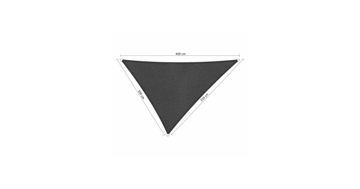 Shadow Comfort driehoek 3x3,5x4m Carbon Black