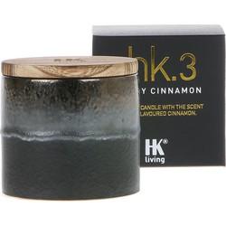 HK-living geurkaars in pot keramiek HK. 3 pittig kaneel 9,5x9,5x9cm