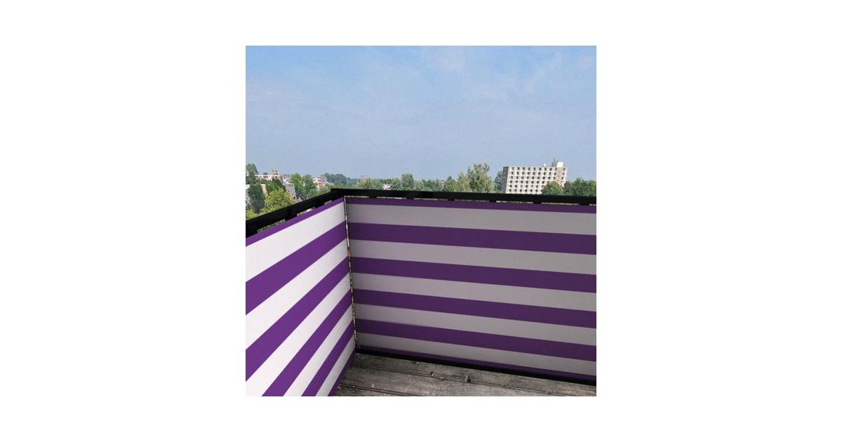 Balkonafscheiding gestreept paars (100x100cm Enkelzijdig)