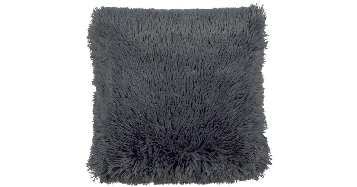 Dutch Decor Kussenhoes Fluffy 45x45 cm Charcoal Gray online kopen
