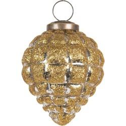 Clayre & Eef Kersclatbal - Ø 8 cm - goudkleurig - glas - rond - Clayre & Eef - 6GL2687