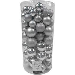 Kerstballen Mix 100 st. - Zilver