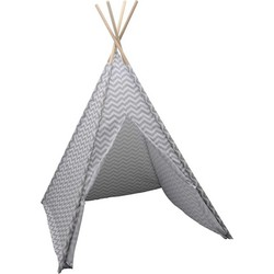 Tipi tent - Pepijn - Grijs met wit strepen