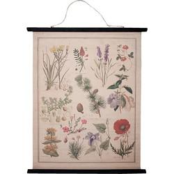 Clayre & Eef Poster Katoen 100 x 80 cm - Botanisch