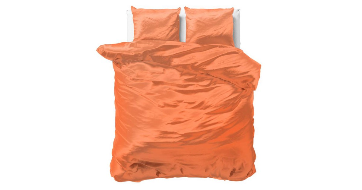 Sleeptime Beauty Skin Care Dekbedovertrek Orange-1-persoons (140 x 200/220 cm)
