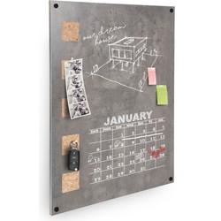 Wand bord - LIVING Wand Kurk/krijt - 58x38x1,5cm