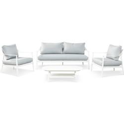 Lanterfant Loungeset Daniëlle – Wit – 4-delig – Aluminium