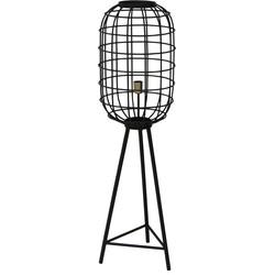 Vloerlamp TOAH - mat zwart-Antiek-brons - M