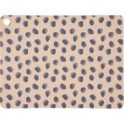 """OYOY """"Set van 2 Placemats Leopard dots"""" 45x35cm"""