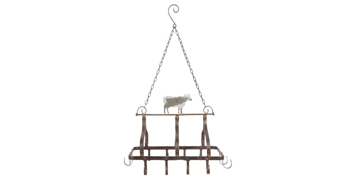 Keukenrek hangend | 55*40*38/79 cm | Bruin | Metaal | Rechthoek | Clayre & Eef | 5Y0590