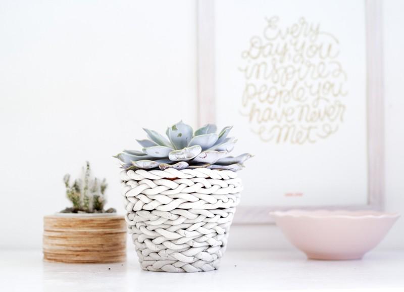 DIY: Gevlochten plantenpot