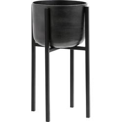 plantenbak op standaard oxidized zwart m 50 x ø28