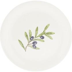 Klein bord | Ø 20 cm | Blauw | Keramiek | rond | Clayre & Eef | OLGDP