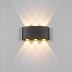 Groenovatie LED Wandlamp 6W Triple Warm Wit, Zwart