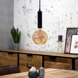 Industriële hanglamp Victoria zwart metaal