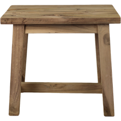 Decoratieve kruk Lawas - 50 cm - blank - teak