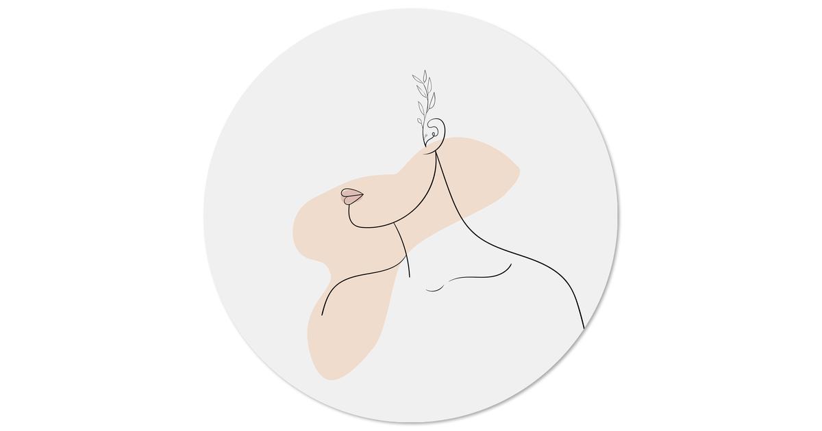 Muurcirkel klein lady 2.0 - Ø 20 cm
