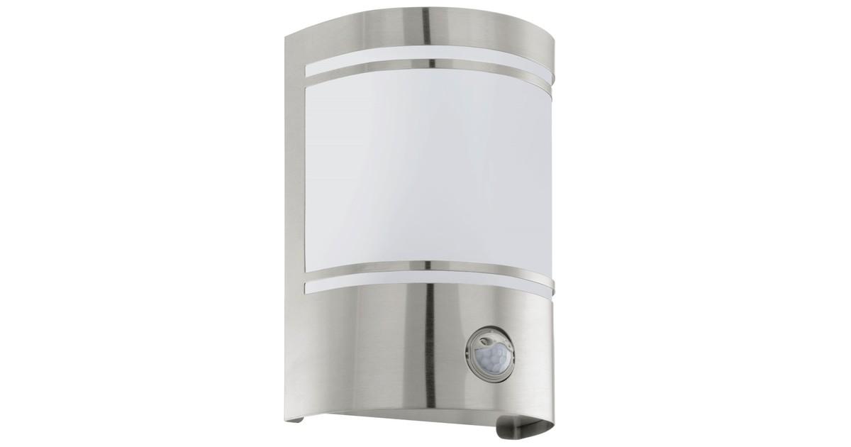 Eglo Cerno Buitenverlichting Wandlamp Met Sensor 1 Lichts RVS Wit online kopen