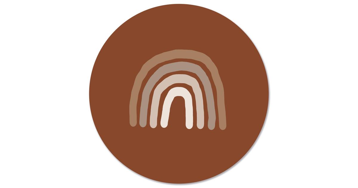 Muurcirkel klein regenboog - Ø 20 cm