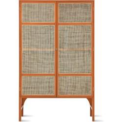 opbergkast webbing retro orange 200 x 125 x 40