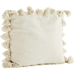 kussenhoes tassels off white 65 x 65