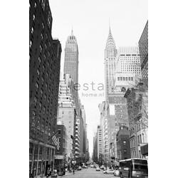 ESTAhome fotobehang NY street view zwart en wit