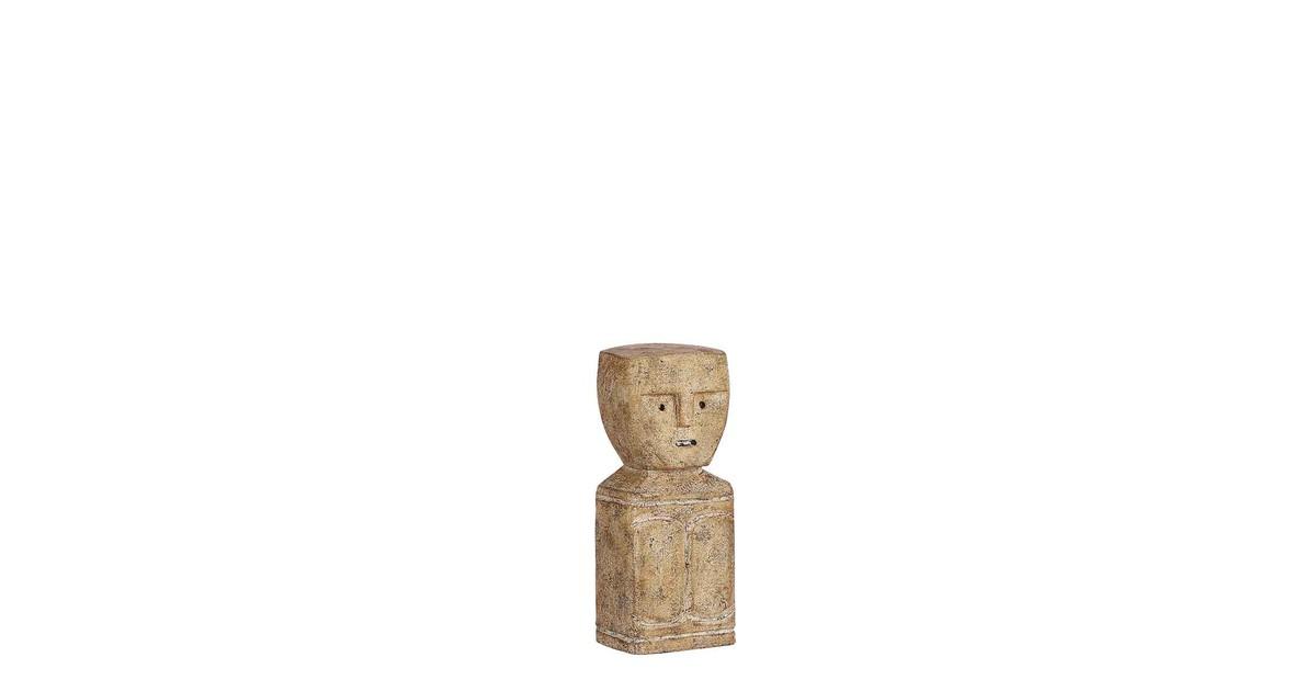 Casa Vivante Decoratief Beeld 9 x 7 x 21,5 cm Alibizia hout Bruin online kopen