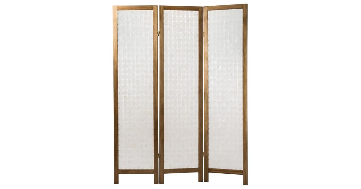 Fine Asianliving Room Divider Capiz Shells Handmade 3 Panel Screen Amy