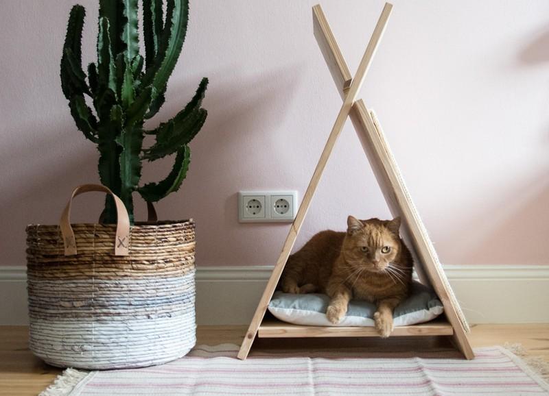DIY: tipi voor de kat!